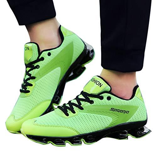 in Ginnastica Uomo Scarpe Traspirante Sportive Scarpe Verde Sport Scarpe Suola Esecuzione Lama Uomini Anca Luppolo Freddo da Moda f6Owxqda