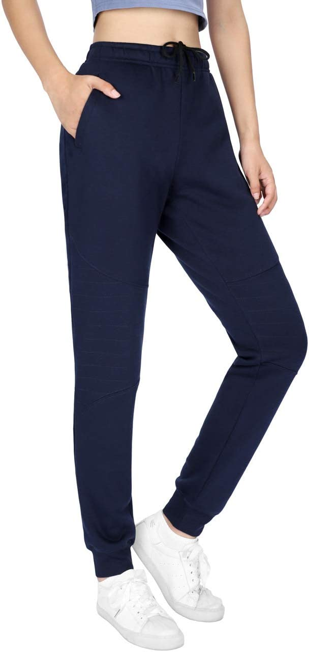DISHANG Jogging L/éger Femme Pantalon de Surv/êtement /à Cordon /élastique /à la Taille Pantalon Sport de Designer 3 Couleurs