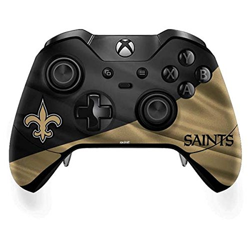 Orleans New Saints Controller (Skinit NFL New Orleans Saints Xbox One Elite Controller Skin - New Orleans Saints Design - Ultra Thin, Lightweight Vinyl Decal Protection)