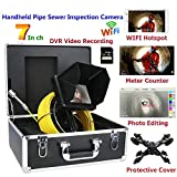 "WiFi Wireless Sewer Camera 7"" Capacitive Touch"