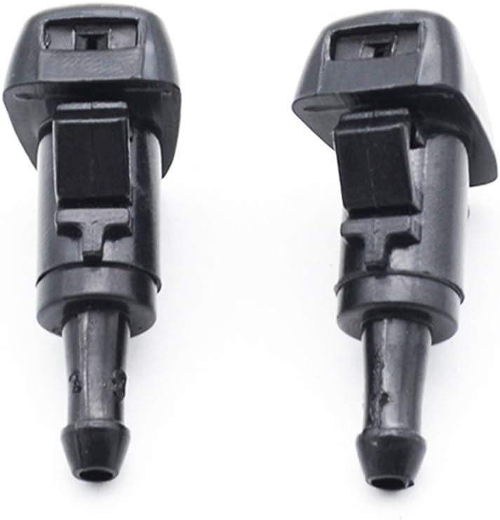 Color : Black KTSM-Stop-T Wiper Washer Water Nozzle 2PCS Front Windscreen Wiper Washer Jet Nozzle Nozzles For Hyundai ix35 Tucson Accent Equus Santa Fe Sonata Solaris ix25 for Windshield