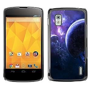 YiPhone /// Prima de resorte delgada de la cubierta del caso de Shell Armor - Space Planet Galaxy Stars 2 - LG Google Nexus 4 E960