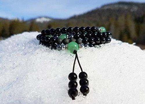 Green adventurine Buddhist Mala Chakra Necklace