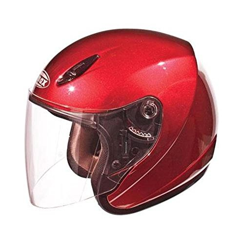 GMAX GM17 Mens Open Face Street Motorcycle Helmet - Candy Red 2X-Large