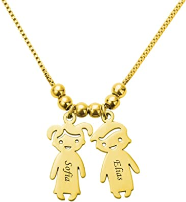 Getname Necklace Customized 5 Initials Name Necklace Family Monogram Necklace Personalized Mother Necklace for Mom