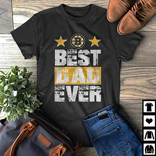 43a40a57f Amazon.com: Best Dad Ever Boston-Bruins New Father's Day Gift T ...