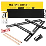 Multi Angle Measuring Ruler,Universal Angleizer Template Tool,Cosmoware Upgraded Aluminum Alloy Measurement Tool For Handymen,Craftsmen,Woodworkers,DIY-ers, Black