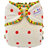 ALVABABY One Size Cute Bamboo Fitted Diaper Fits Under 28lbs FT01