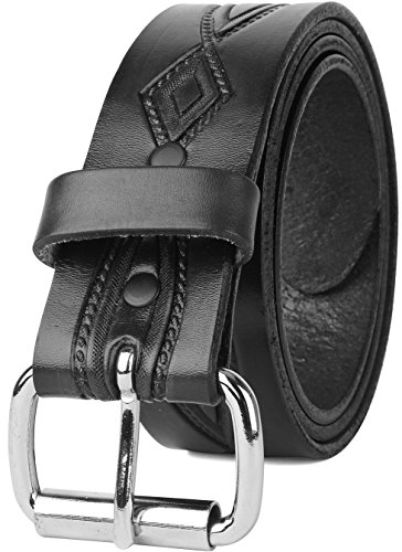 Men's Top Grain Vintage Distressed leather Belt,easy to change Roller buckle,1.5