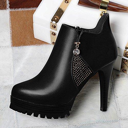 Con Nuevos Cuatro Impermeableblacktreinta Singles Khskx Altos Ultra Tacon Y tacones Las Zapatos Fino De Mujeres Cuero 6OZ8qnw6