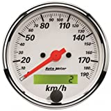 Auto Meter 1388-M Arctic White Electric Programmable Spee...
