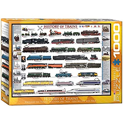 EuroGraphics History of Trains 1000 Piece Puzzle: Toys & Games