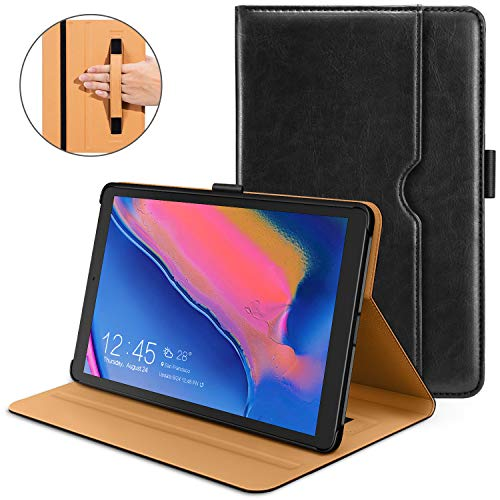 - DTTO Samsung Galaxy Tab A 8.0 2019 Case, Premium Leather Folio Cover with Hard Back for Samsung Galaxy Tab A 8.0 with S Pen Tablet P200/P205 (2019) [Not Support Auto Sleep/Wake], Black