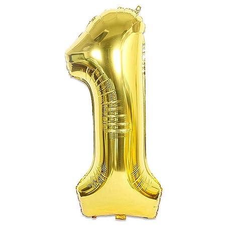 32/40 pulgadas Número 1 Globo de helio Oro Azul Rosa Color ...