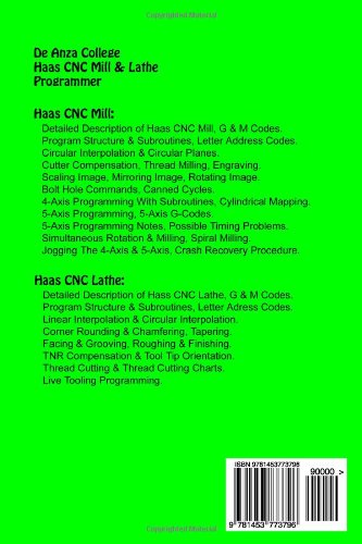 Haas CNC Mill & Lathe Programmer: De Anza College: Lynn J