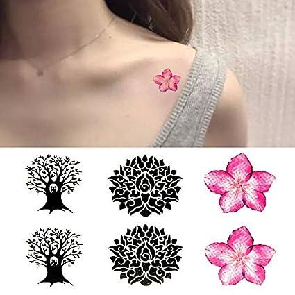 Oottati Pequeño Lindo Tatuaje Temporal Mandala De La Flor Del ...