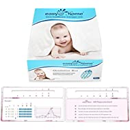 Easy@Home 50 Ovulation (LH) Test Strips Plus Progression Card and Log, Ovulatory Monitor Test For Preovulatory And Postovulatory Progression Tracking - Newly Launched