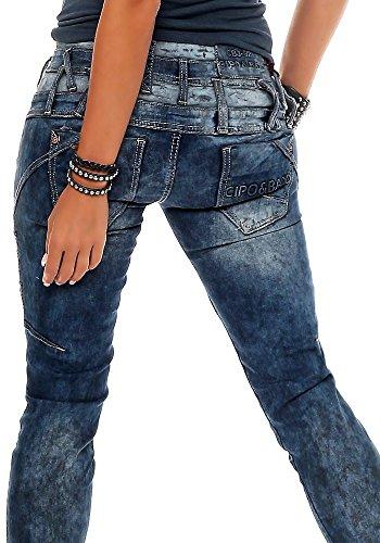 Azul Vaqueros Oscuro Cipo Para Mujer amp; Baxx Efxqqw7X
