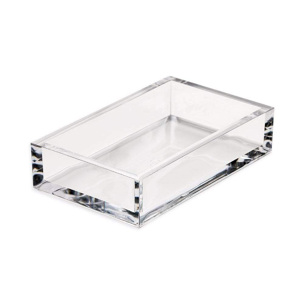 Caspari Acrylic Guest Towel Paper Napkin Holder in Clear, For Caspari Towels Only