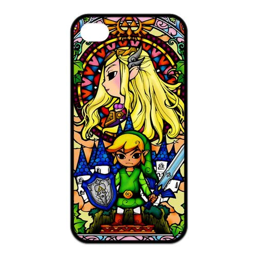 Fayruz- The Legend of Zelda Protective Hard TPU Rubber Cover Case for iPhone 4 / 4S Phone Cases A-i4K96