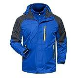 MAGCOMSEN 3-in-1 Men's Hiking Camping Fleece Waterproof Ski Jacket Hooded Raincoat