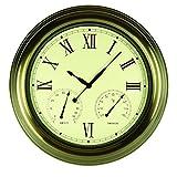 Poolmaster 52603 18'' Clock/Thermometer/ Hygrometer - Bronze