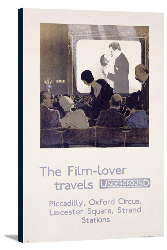 London Underground – The Film – Loverヴィンテージポスター(アーティスト:ナシ) England c。1930 22 3/8 x 36 Gallery Canvas LANT-3P-SC-59398-24x36 22 3/8 x 36 Gallery Canvas  B0184AT472