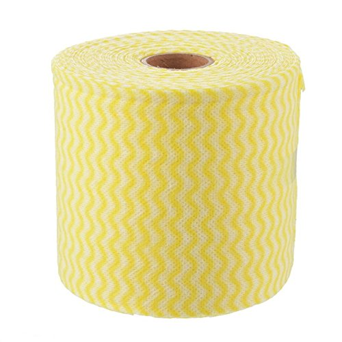 1Roll Facial Towel Cotton Multi Use Soft Tissues Beauty Dish Clean Paper Gel Remover (Yellow)