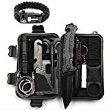 ZTZ Emergency Survival Kit,10-In-1 Compact Outdoor Survival Gear Kits Portable EDC Emergency Survival Tool Set with Gift Box for Camping Hiking Hunting Climbing Travelling Wilderness Adventures
