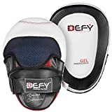 DEFY Gel Padded Punch Mitts Boxing Pads Focus Mitts Punching MMA Hook and Jab Curved Training Kickboxing, Striking, Muay Thai Martial Arts Focus Pad