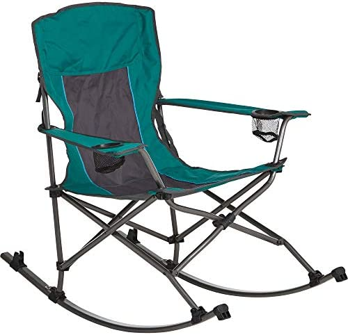 Westfield Outdoor Folding Camp Rocking Chair 300-Lb. Capacity, Green Black