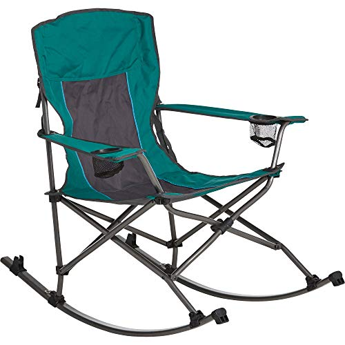 Westfield Outdoor Folding Camp Rocking Chair  300-Lb. Capacity, Green/Black