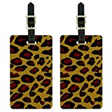 Leopard Animal Print Luggage Tags Suitcase Carry-On ID Set of 2