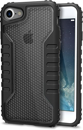 Slk Light Carbon - Silk iPhone 7/8 Tough Case - SILK Armor Protective Rugged Grip Cover - Guardzilla - Includes 2 Tempered Glass Screen Protectors - Smoke