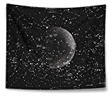 HAOCOO Hippie Wall Hanging Tapestry,Boho Indian Home Decor Starry Sky Wall Art for Bedroom Living Room Dorm Apartment (51 x 60 Inch, Moon Constellations)