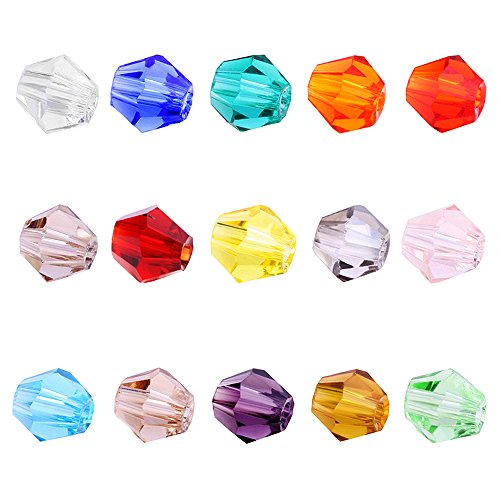 - BEADNOVA 4mm Xilion Bicone Faceted Crystal Glass Beads For Jewelry Making DIY Craft Beads Bracelet Wholesale Mix lot 1500pcs