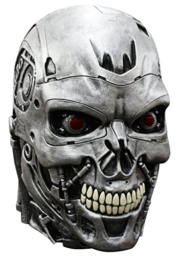(Terminator Endoskull Mask Adult Costume for Halloween)