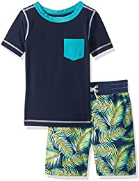 Gymboree Big Boys' Nvy Teal Pkt Rashguard