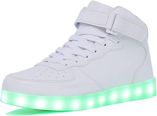 APTESOL Unisex LED Light Up Shoes Women Men Breathable Colorfull Flashing Sneakers