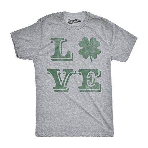 Crazy Dog TShirts - Mens LOVE Lucky Clover Vintage Cute Irish St. Patricks Day T shirt - herren -