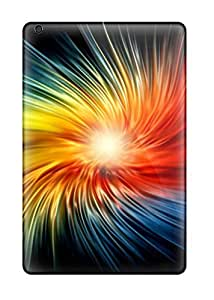 New Premium Flip Case Cover Funky Colorful Spiral Skin Case For Ipad Mini/mini 2