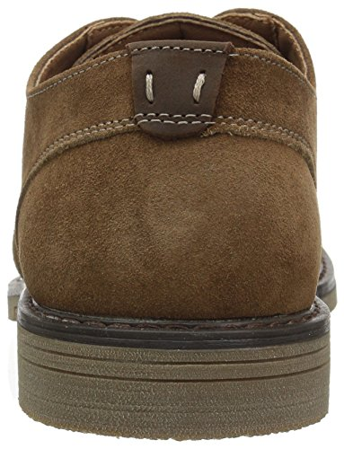 Nunn Bush Mens Linwood Plain Teen Oxford Camel Suede