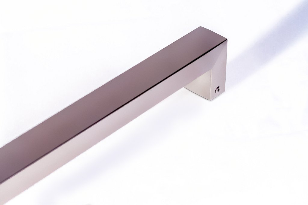 Modern Contemporary 16 inches Square Rectangle Flat Shape Stainless-Steel Door Handle Pull Shower Glass Barn Entry Exterior Interior Gate Entrance Sliding Towel Bar Cabinet Satin Nickel Brushed Finish by KeyTiger Door Pulls & Handles (Image #2)