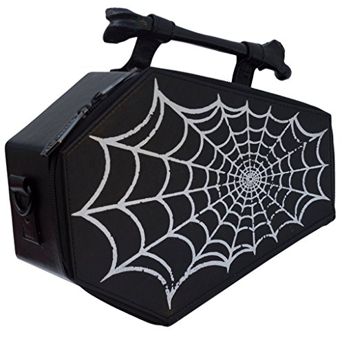 - Spiderweb Coffin Purse Spider Web Casket Theme Handbag Kreepsville Halloween