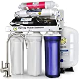 iSpring RCC7P-AK 6-Stage Maximum Performance Reverse Osmosis Drinking Water Filtration System with Booster Pump and Alkaline Remineralization Filter