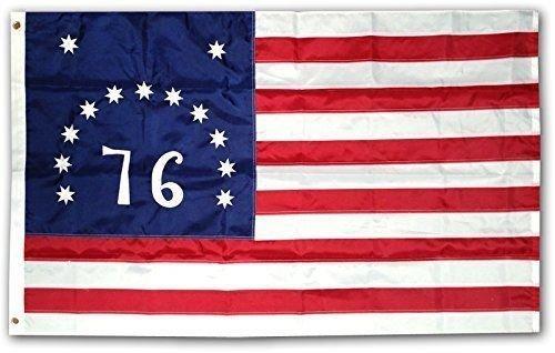 Moon 3x5 Embroidered Bennington 76 Flag 1776 220D Sewn Nylon