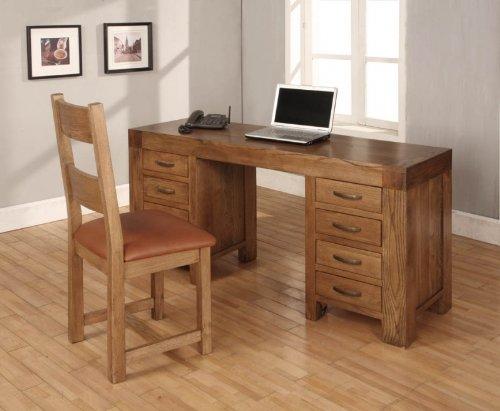 Devon Schreibtisch Möbel Aus Recyceltem Holz Eiche Günstig Online Kaufen