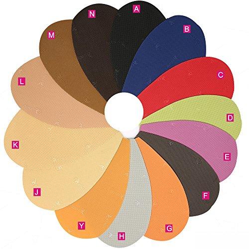 Schuh-Ersatz-Gummi-Halbsohle, Gummiplatte, Dicke und Farbe wählen, Packung mit 1 Paar M: Khaki
