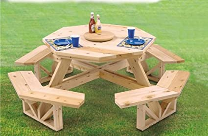 Charmant Octagon Picnic Table Woodcraft Project Woodworking Pattern