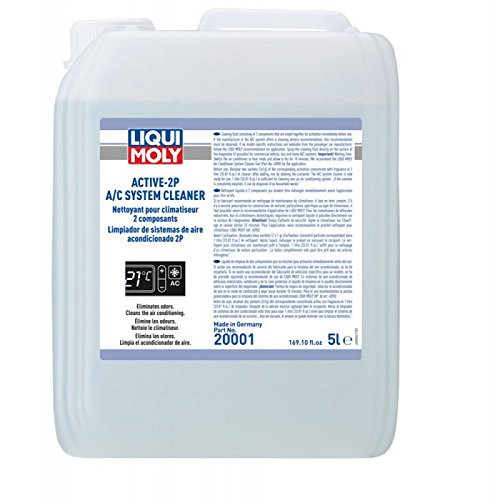 Liqui Moly Active-2P A/C System Cleaner 5 Liter (20001) with 10 Activation Concentrate Fragrance Packets Concentrate Fragrance